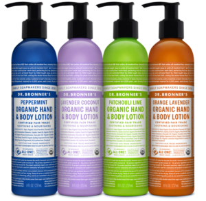 Dr. Bronner's body lotion